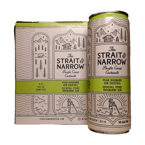 The Strait & Narrow Pacific Coast Pear Rhubarb Gin Cocktail